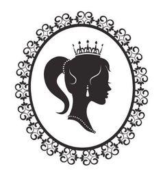 princess in frame vector image