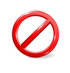 Prohibit sign empty template vector
