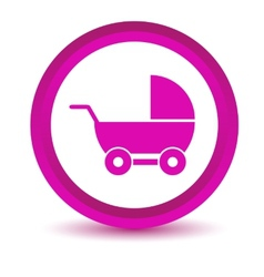 Purple baby carriage icon vector image