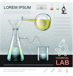 realistic chemical experiment template vector image