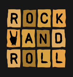 rock roll inscription vector image vector image