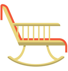 Rocking chair icon flat isolated vector