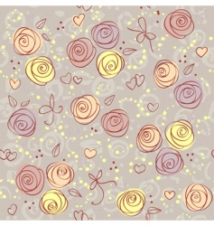 seamless floral light vector background vector image