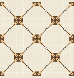 Seamless pattern with steel bracing rod vector