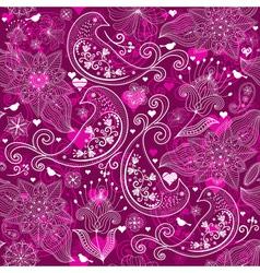 Seamless vinous valentine pattern vector