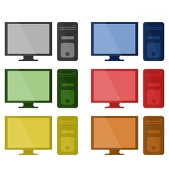 set of computer vector image