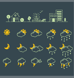 Set of weather icons season vector