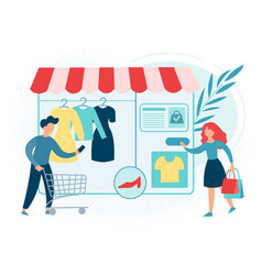 shopping in online store vector image