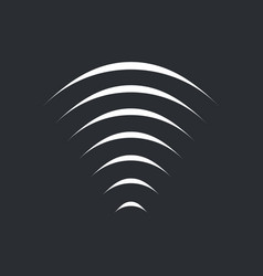 sound radio wifi wave icon isolated on black vector image