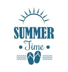 Summer sale logo vector image