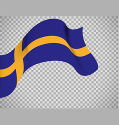 sweden flag on transparent background vector image