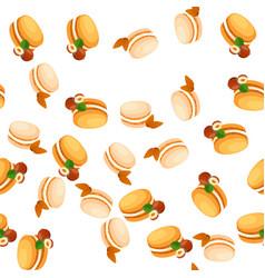 tasty macaroon cookie vector image