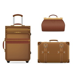 travel bags 01 vector image