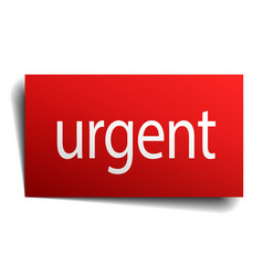 Urgent red paper sign on white background vector