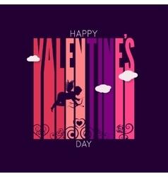 valentines day design background vector image