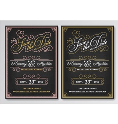 Vintage chalkboard save the date wedding vector