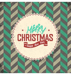 Vintage lettering merry christmas vector