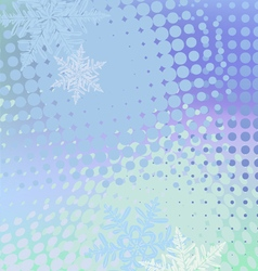 Winter horizontal banner snowflakes vector image