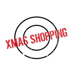 Xmas shopping rubber stamp vector