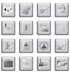 monochrome icons set vector image