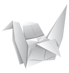 origami art with paper bird vector image vector image