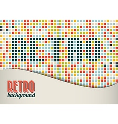 retro background template vector image vector image