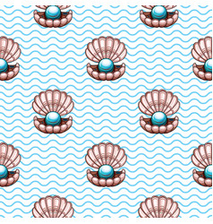 sea travel seamless background with underwater vector image vector image