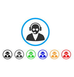 support operator rounded icon vector image vector image
