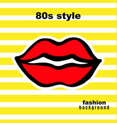sweet kiss fashion card in pop art style vector image