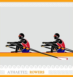 Athlete Rowers vector image vector image