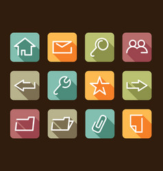base the icon internet vector image vector image