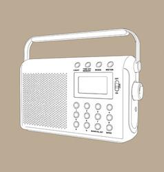 digital radio vector image vector image