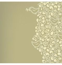 Floral wedding or birthday invitation vector image vector image