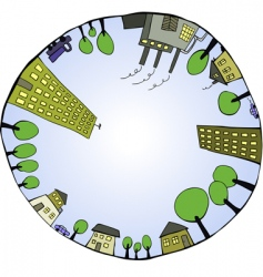 inner world vector image