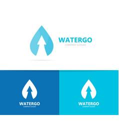 oil and arrow up logo combination drop vector image