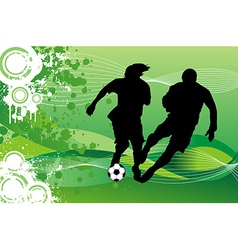 Soccer Players Running behind Ball vector image vector image
