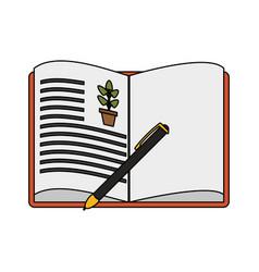 book icon image vector image