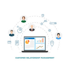 customer relationship management vector image