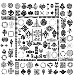 Different style elements vector image vector image