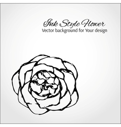Ink style flower Elegant card for Your design vector image vector image
