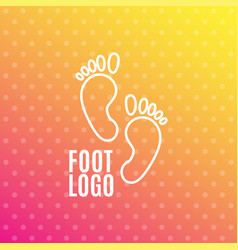 logo of center of healthy feet human footprint vector image vector image