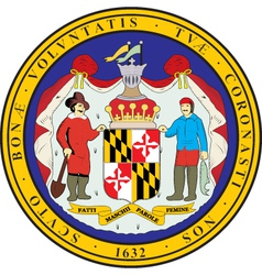 Maryland Seal vector image vector image