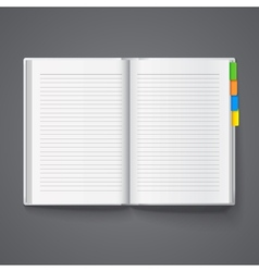 Notebook for records vector image vector image