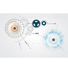 abstract cog gear wheel technology background vector image vector image