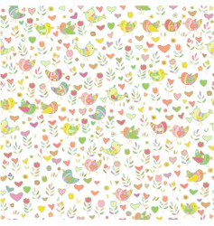 cute floral pattern vector image vector image
