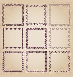 decorative retro frames vector image vector image