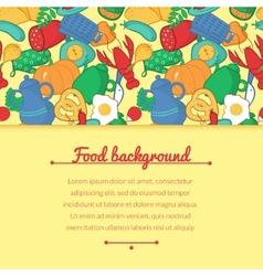 Kitchen in cartoon style vector image