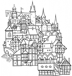 old town vector image vector image