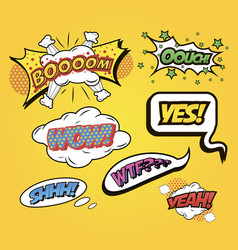 speech bubbles comics speech and exclamations vector image
