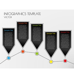 white infographcs vector image vector image